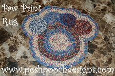 Paw Print Rug Crochet pattern  Posh Pooch Designs Dog Clothes