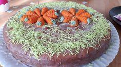 Rübli-Diabetiker-Torte zum 40. Geburtstag oder Ostern / Osterbrunch Karottenkuchen / Möhrenkuchen / Rüblikuchen Rezept