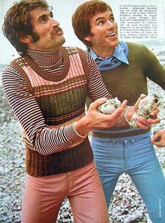clothing advertisements show decade's cringe-worthy fashion Bad Fashion, 60s And 70s Fashion, Retro Fashion, Trendy Fashion, Vintage Fashion, Mens Fashion, Fashion Trends, Decades Fashion, Fashion Vest
