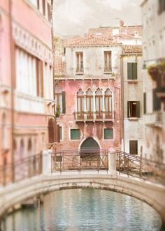 Venice Photography - Acqua Dolce, Bridge Over Romantic Canal, Dreamy Italy Travel Photograph, Wall Decor by GeorgiannaLane on Etsy Venice Photography, Travel Photography, Oh The Places You'll Go, Places To Travel, Travel Destinations, Beautiful World, Beautiful Places, Pont Paris, Ville Rose
