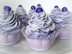 Bath Bomb Cupcakes Lavender made with Cocoa by NorasSoapScents