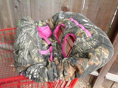 MOSSY OAK CAMO and Hot Pink Fully Padded by CrystalsCreations22, $55.00