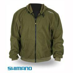 Shimano Trıbal Fleece Ceket, polar özellikli ve kapşonludur.