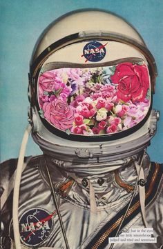 flower head astronaute