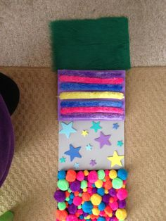 Multi-textured sensory foot path to help children who are walking on their toes.