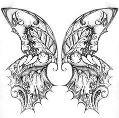 832 by Umbrellas-and-Apples @ deviantART Butterfly Wings Abstract Doodle Zentangle ZenDoodle Paisley Coloring pages colouring adult detailed advanced printable Kleuren voor volwassenen coloriage pour adulte anti-stress kleurplaat voor volwassenen