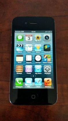Apple iPhone 4 - - Black (Verizon) (CDMA) for sale online Iphone 4s, Apple Iphone, Iphone 7 Cases, Clock Games, Smartphone, Wooden Case, 6 Case, Ipod Touch, Ebay