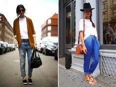 Spotted: Simple White Tee; love the jacket on the left