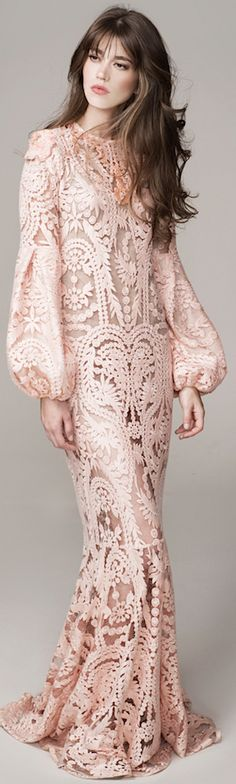 BoHo Beauty- Johanna Ortiz Spring Summer 2016 Look 7 on Moda Operandi Beautiful Gowns, Beautiful Outfits, Looks Style, Marchesa, Elie Saab, The Dress, Dress Lace, Love Fashion, Evening Dresses
