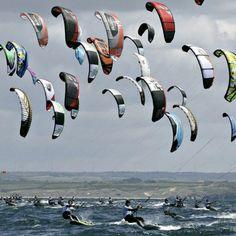 Bretagne - Le Kite Surf à Tréboul, Finistère