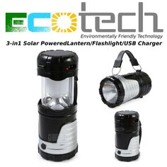 Shadow Blaster Solar Powered Latern/Flashlight + USB Charger #ShadowBlaster