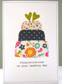 Personalised wedding congratulations card by FluffyDuck £3.75