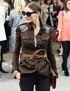 Olivia Palermo at Burberry.