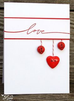Creative heart beautiful card idea