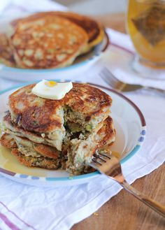 Beautiful Gluten-Free Zucchini Pancakes using almond meal and coconut flour | TheRoastedRoot.net #healthy #recipe #breakfast