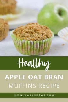 Kids will go wild for these easy apple oat bran muffins, and they won't even know they're healthy! Packed with fiber and protein and free from white flour and refined sugars, you can feel good about this healthy muffin recipe that's great for toddlers and kids, and you can make them ahead for healthy snacks, breakfast, and lunchbox treats all week long! #oatbranmuffins #kidsmuffins #healthykidssnacks #toddlermuffins Easy Snacks For Kids, Healthy Meals For Kids, Kids Meals, Healthy Snacks, Gluten Free Recipes For Kids, Baking Recipes For Kids, Baking With Kids, Healthy Muffin Recipes, Healthy Muffins