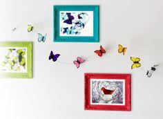 guirnalda de mariposas con broches