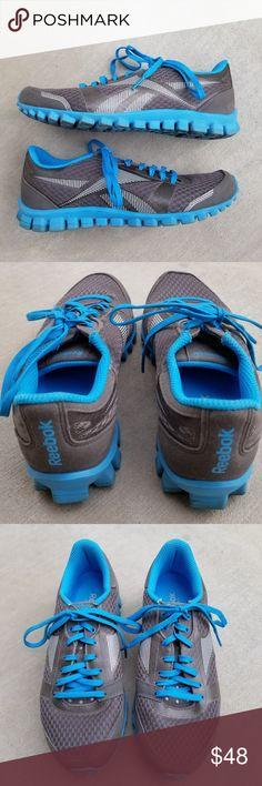 be0469fc0cb Reebok Realflex Women s Athletic Running Sneakers Reebok J89774 Realflex  Women s Size 7.5 US Gray Blue Mesh