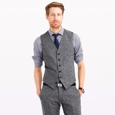 2017 Latest Coat Pant Designs Grey Tweed Groom Men Suit Terno Slim Fit 2 Piece Prom Tuxedo Custom Blazer Masculino Vest +Pant X4 #Affiliate
