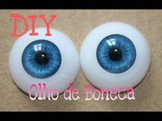 olhos realistas iris de resina Viviana Biscuit clay eyes olho boneca porcelana fria - YouTube