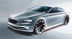 Skoda VisionC: zeg maar gewoon de Octavia CC, een vijfdeurs coupé