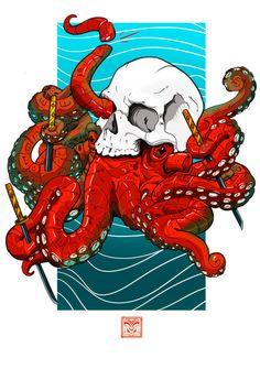 Octopus Skull by Kalani Lindsey. http://www.marekolani.daportfolio.com/