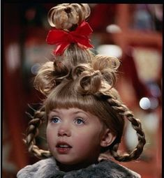"Cindy Lou Who (played by Taylor Momsen), Christmas Hair from ""How The Grinch Stole Christmas"" Cindy Lou Who Hair, Cindy Lou Who Costume, Cindy Lou Who Actress, Cindy Who, O Grinch, Grinch Stole Christmas, Grinch Party, The Grinch 2000, Whoville Christmas"
