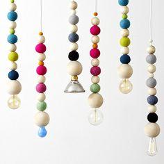 Grå lång hängande fönsterlampa 3