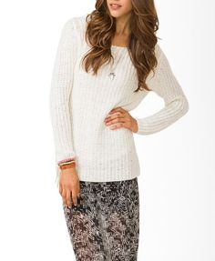 Contemporary Open-Knit Sweater