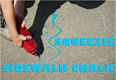 » Pinterest Pin of the Week:  Squeezie Sidewalk Chalk