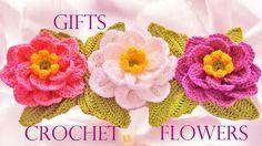 Como tejer flores fácil y rápido en una tira en pocos minutos - Make knitting in…