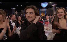 Timothée Chalamet at the Golden Globes