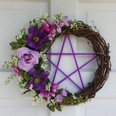 Pentacle Wreath  Spring  Wreath Pagan Wreath by TheShabbyWitch