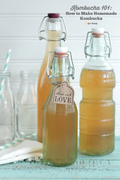 Make this healthy probiotic drink at home! It's so easy!! Homemade Kombucha 101: How to Make Homemade Kombucha | Live Simply