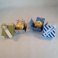 Mini Explosion box using Stampin'Up! DSP and a Ferrero Rocher