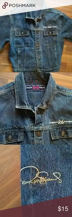 Phat Farm Denim jacket sz small this is an adorably jacket.it is in great condition except the bottom button is missing from the front buttons.please see all pics. this will be listed for much less than its worth. .still can be fixed or worn as is or unbuttoned. Phat Farm Jackets & Coats Jean Jackets