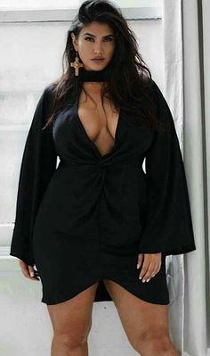 Plus Size Little Black Dress Empire Waist