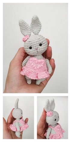 Amigurumi Spring Bunnies Free Pattern – Free Amigurumi Patterns - a - Finger Crochet, Crochet Bunny Pattern, Crochet Amigurumi Free Patterns, Crochet Animal Patterns, Stuffed Animal Patterns, Crochet Dolls, Crochet Baby, Free Crochet, Amigurumi Doll