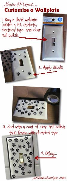 Easy Wallplate Project- under $5 and under 30 minutes!