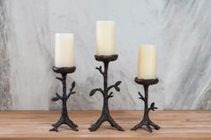 Madeira Pillar Candleholders
