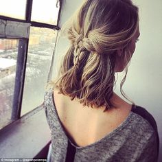 Creating her looks on models, friends and even herself, each style offers a new take on the traditional plait. While some styles are simple like the half-up braid that could be worn to work, others are far more complex
