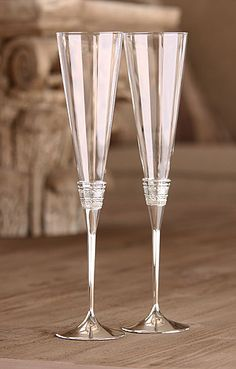 Love these...Vera Wang Wedgwood With Love Silver Toasting Flutes, Pair