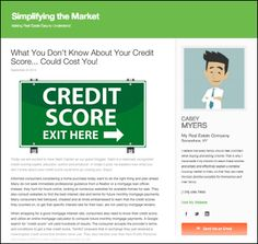 What You Don't Know About Your Credit Score ... could cost you!  #creditscore #credit #creditreport