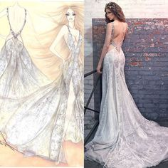 Secret sketch by our genius home designer @sharonsever! Here's our Jade gown…