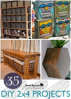 35 DIY woodworking plans for 2x4 projects at @savedbyloves