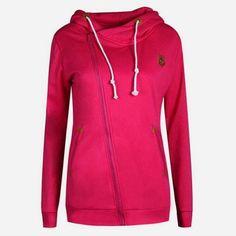 2017 Solid Women Hoodies Sweatshirts Spring Autumn Hoodies Women Zipper Design Thicken Hoody Women hooded jacket S-XL Size