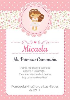 Bautismo Page Borders Design, First Communion Invitations, Baptism Party, Pink Invitations, Ideas Para Fiestas, First Holy Communion, Stationery, Birthday Parties, Baby Shower