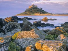 St. Michael's Mount Cornwall England and on the other side of the Channel is Mont St. Michel, France!