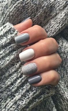 Spring nails designs 9 Fresh Manicure Ideas to Usher in Spring Cute Acrylic Nails, Cute Nails, Pretty Nails, Winter Nails, Spring Nails, Summer Nails, Hair And Nails, My Nails, Nagellack Design
