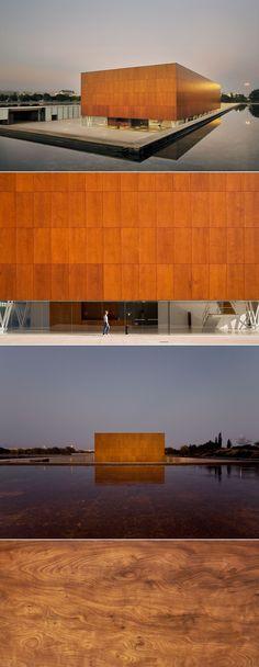 MUA Alicante University Museum by Alfredo Paya (Alicante, Spain, 1998) - Parklex Facade: Copper Finish